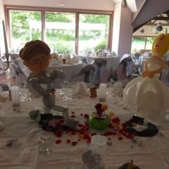 Sculpture en ballons d'un couple