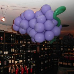 Grappe de raisins en ballons