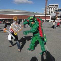Chevalier et dragon en ballons