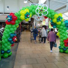 Arche fleurie en ballons