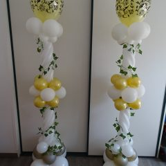 colonnes pour un mariage (thème champêtre)