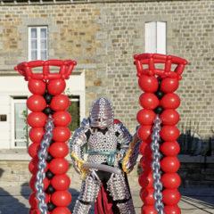 Costume de chevalier en ballons